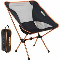 MARCHWAY Portable Camping Chair Adjustable Height Compact Ul
