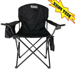 Portable Camping Quad Chair with 4 Built-in Can Cooler, Stro