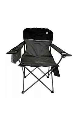 Coleman Portable Camping Quad Chair With 4-Can Cooler. NEW I