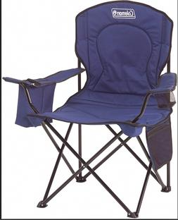 Coleman Portable Camping Quad Chair with 4-Can Cooler - Blue