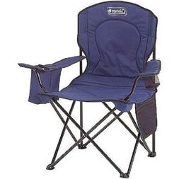 Coleman Portable Camping Quad Chair with 4-Can Cooler Fully
