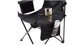 Coleman Portable Camping Quad Chair with 4-Can Cooler, NEW F