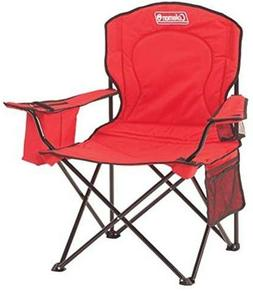 Coleman Portable Camping Quad Chair with 4-Can Cooler, Colla