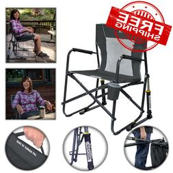 Portable Collapsible Rocking Chair Outdoor Sports Camping Pa