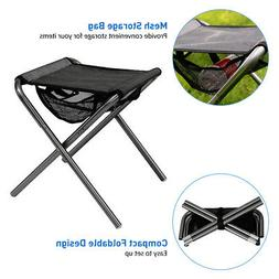 Portable Fishing Stool Chair Seat With Mesh Bag For Outdoor