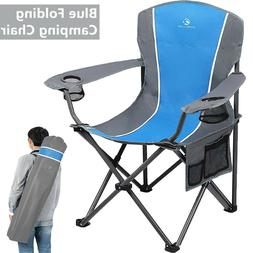Portable Folding Camping Chair Heavy Duty Outdoor Fishing Pi