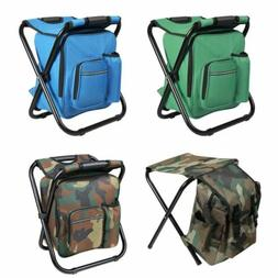 portable folding camping chair stool backpack travel