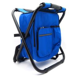Portable Folding Camping Fishing Chair Stool Travel Backpack