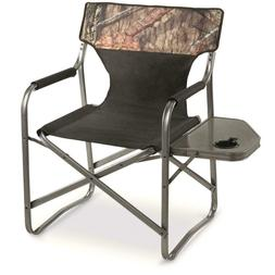 Portable Folding Director's Chair Cup Holder Lounge Camping