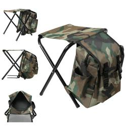 portable folding fishing chair stool backpack outdoor