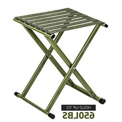 TRIPLE TREE Portable Folding Stool, Super Strong Heavy Duty