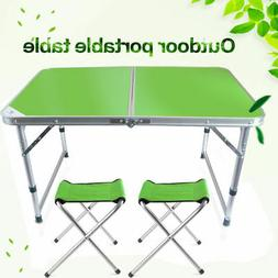 Portable Height Adjustable Folding Table With Camping Chair