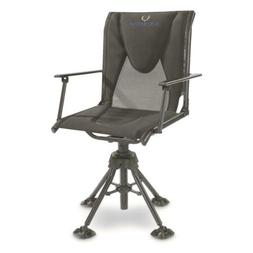 Portable Hunting Blind Chair With Armrests 360 Swivel Deer H