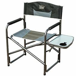 Portable Lightweight Folding Camping Director Chair Side Tab