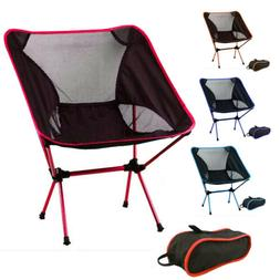 Portable Lightweight Folding Chair Alloy Outdoor Camping Cha
