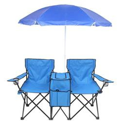 Portable Outdoor/Camping 2-Seat Folding Chair with Removable