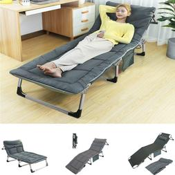 Portable Outdoor Reclining Chaise Lounge Bed Chair Pool Pati
