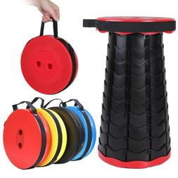 Portable Retractable Folding Camping Stool Telescopic Seat C