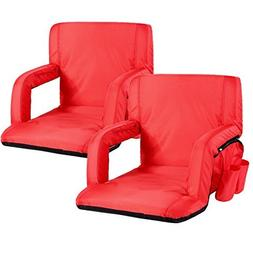 Portable Stadium Seat Chair, Sportneer Reclining Seat for Bl