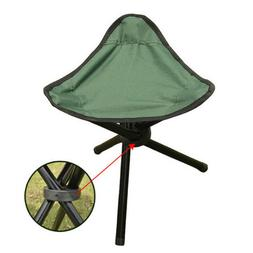 Portable Travel Slacker Chair Folding Tripod Stool Outdoor C