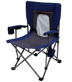 PORTAL PR-FCH330-BL Camping Chair Folding Portable Quad Mesh