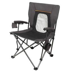 PORTAL PR-FCH330-BLK Camping Chair Folding Portable Quad Mes