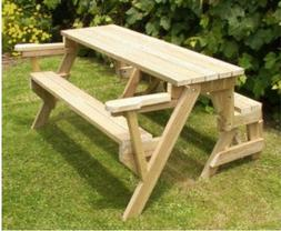 PRINTED PLANS FOR A FOLDING PICNIC TABLE **FREE SHIPPING LIM