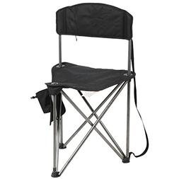 PORTAL Extra Large Quick Folding Tripod Stool with Backrest
