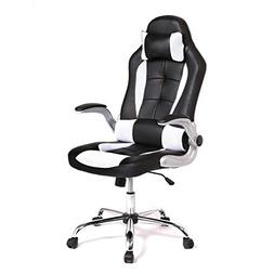 BestMassage Racing Office Chair, High-Back PU Leather Gaming