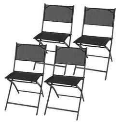 Set of 4 Outdoor Patio Folding Chairs Furniture Camping Deck