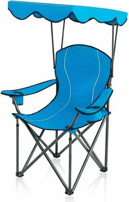 ALPHA CAMP Shade Canopy Chair Folding Camping Chair Support