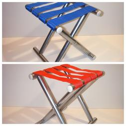 """Small Metal Folding Chair 12.5"""" Portable Camping Outdoor F"""