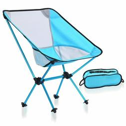 Solids Colors Moon Chair Purple Stable Camping Folding Outdo