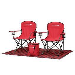 Tailgate Combo w/ Cooler Folding Chairs Footprint Blanket Ev