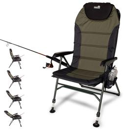TOP Fishing Chair Adjustable Reclining Outdoor Camping Foldi