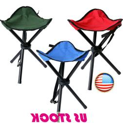 Travel Slacker Chair Folding Tripod Camping Stool Seat Hikin