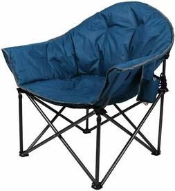 ALPHA CAMP Upgrade Moon Saucer Folding Camping Chair with Cu