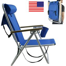 US Folding Backpack Beach Chair Solid Construction Camping P