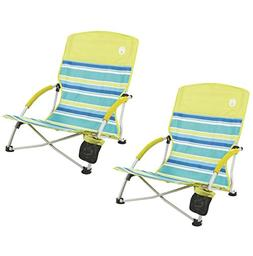 Coleman  Utopia Breeze Beach Sling Camping Chairs w/Cup Hold