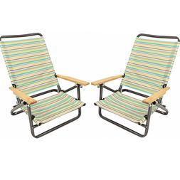 x2 folding beach chair camping