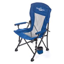 Lucky Bums Youth Folding Arm Chair with Cup Holder, Navy, Sm