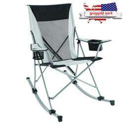 Zero Gravity Folding Rocking Chair Patio Lawn Reclining Camp