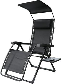 Zero Gravity Lounge Chair Extra Large w/ Side Table Sun Cano